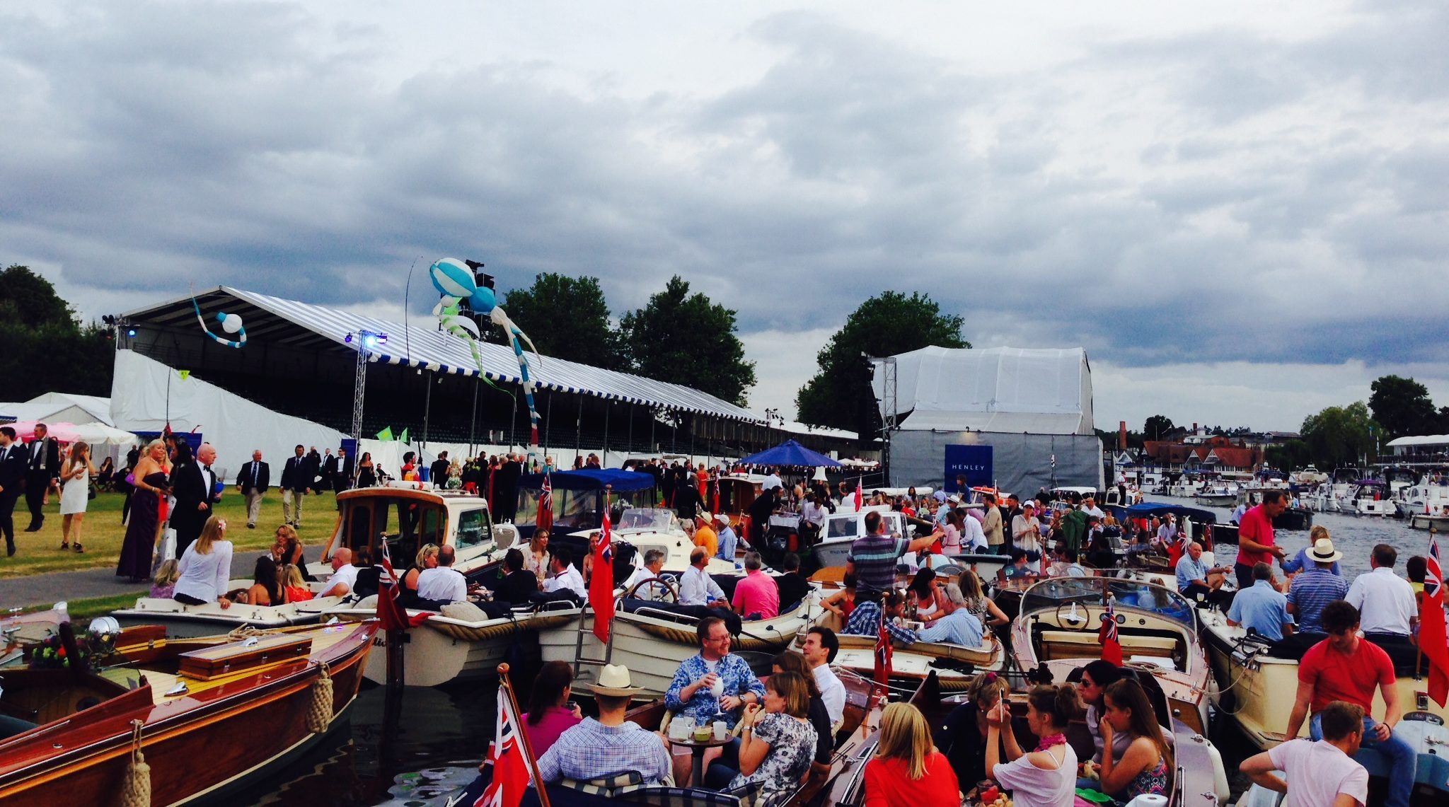 Sea of boats in the Festival enclosure in 2015