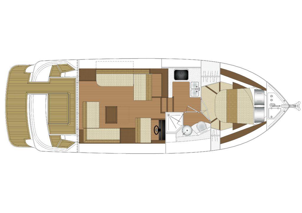 Haines 36 Sedan standard layout